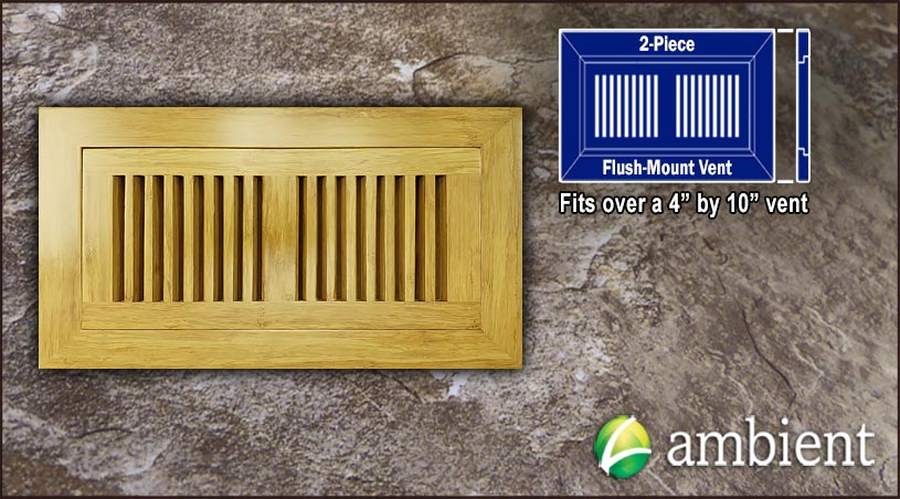 Register Vent Flush Mount Bamboo4x10 Natural