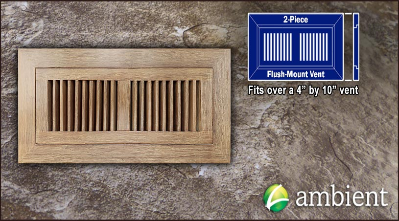Register Vent Flush Mount Bamboo4x10 Sahara Distressed