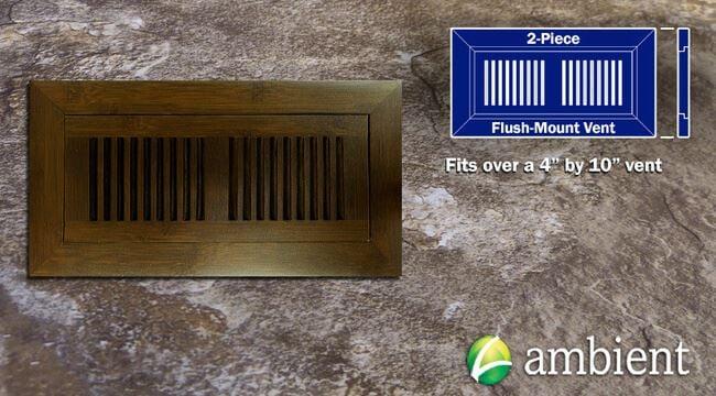 Register Vent Flush Mount Bamboo4x10 Walnut