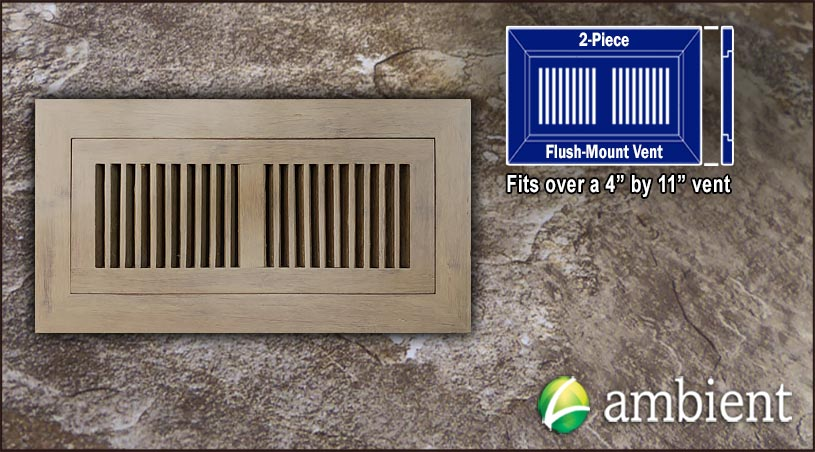Register Vent Flush Mount Bamboo4x11 Tahoe Sawn