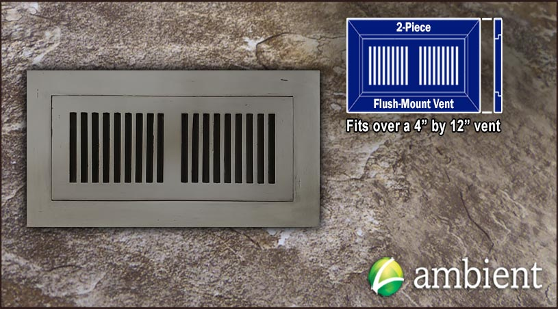 Register Vent Flush Mount Bamboo4x12 Ashwood