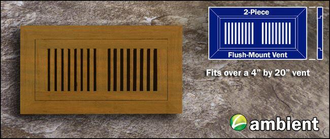 Register Vent Flush Mount Bamboo4x20 Teak