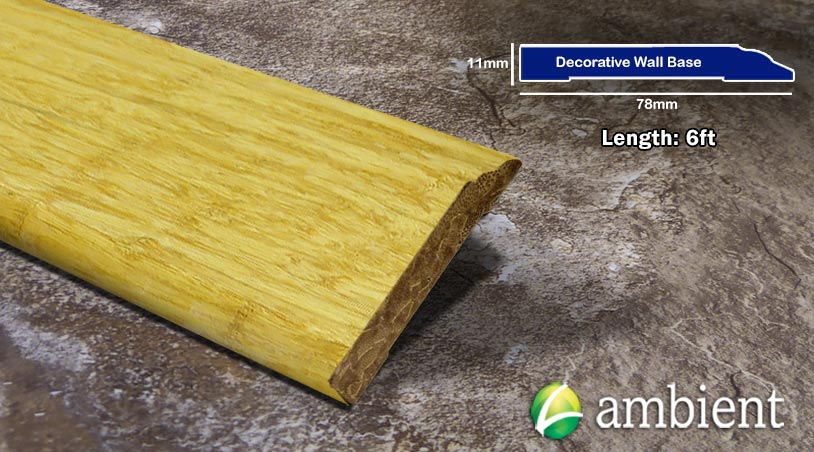 Strand Bamboo Baseboard Wall Base Natural Dec