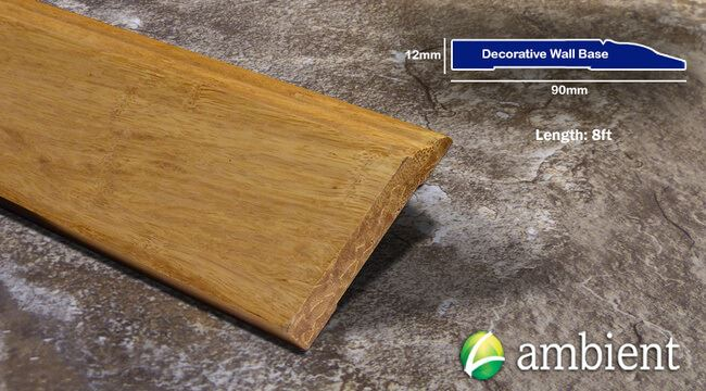 Strand Bamboo Baseboard Wall Base Natural Dec D