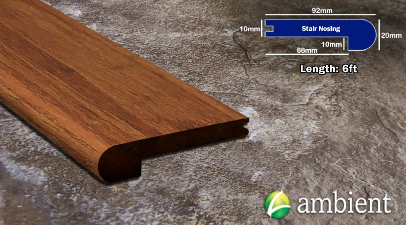 Strand Bamboo Stair Nosing Bull Nose Carbonized10mm