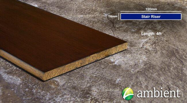 Strand Bamboo Stair Riser Up Board Amber