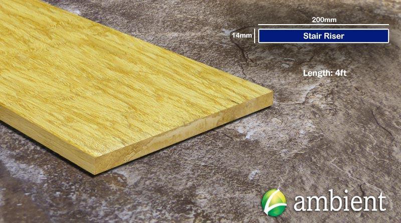 Strand Bamboo Stair Riser Up Board Natural 200mm