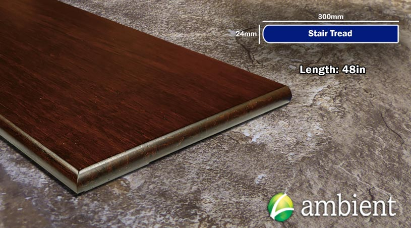 Strand Bamboo Stair Tread48inch Amber Distressed