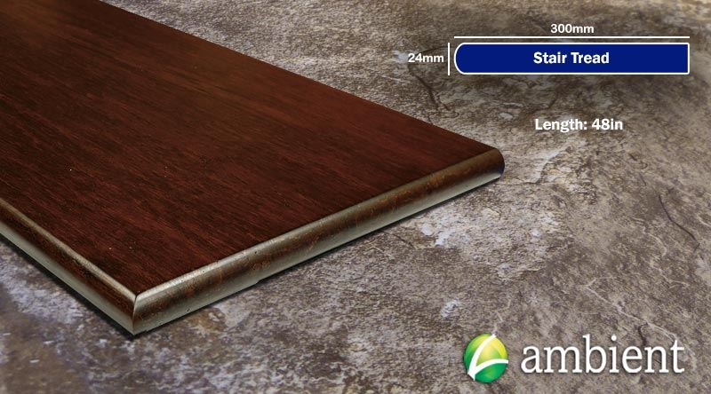 Strand Bamboo Stair Tread49inch Amber