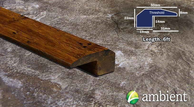 Strand Bamboo Threshold Endcap Carbonized Antiqued