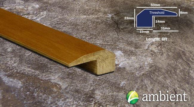 Strand Bamboo Threshold Endcap Teak