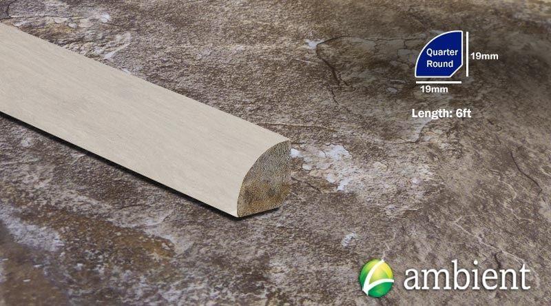 Strand Ivory Distressed Quarter Round Molding