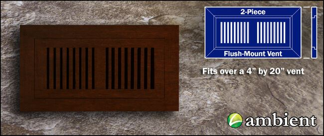 Vent Cover Flush Mount Bamboo4x20 Espresso