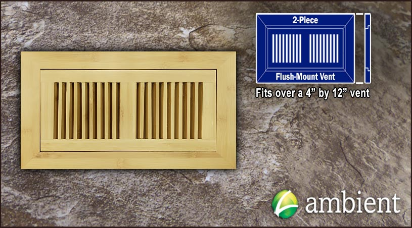 Vent Flush Mount Horizontal Bamboo4x12 Natural
