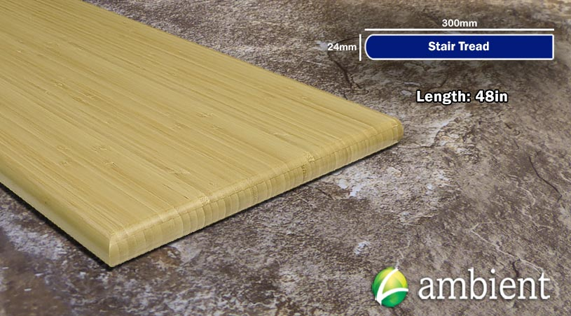 Vertical Bamboo Stair Tread48inch Natural