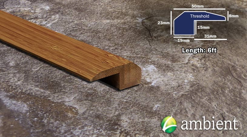 Vertical Bamboo Threshold Endcap Carbonized
