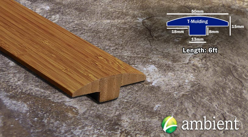 Vertical Bamboo Tmolding Transition Carbonized
