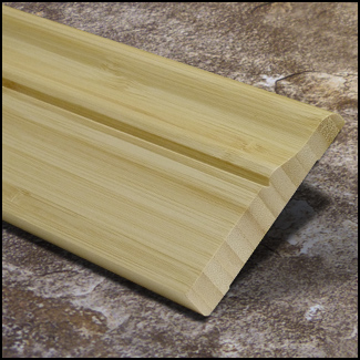Bamboo Baseboard Wall Base Natural Vertical Dec T