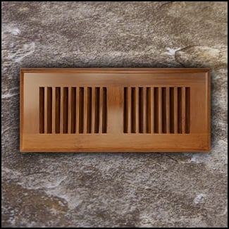 Drop In Bamboo Register Vent Cover4x10 Carbonized T