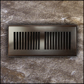 Drop In Bamboo Register Vent Cover4x10 Coffee  T