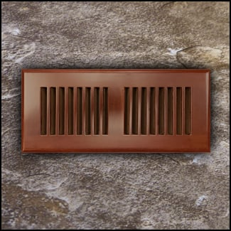 Drop In Bamboo Register Vent Cover4x12 Cinnamon T