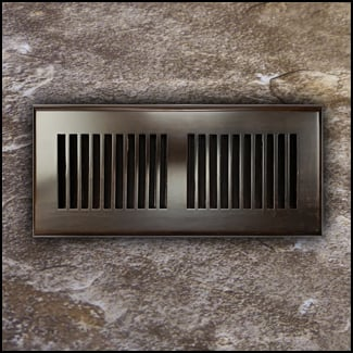 Drop In Bamboo Register Vent Cover4x12 Coffee T