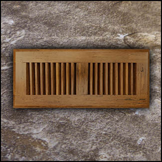 Drop In Bamboo Vent Cover4x11 Carbonized Antiqued T