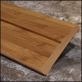 Horizontal Bamboo Baseboard Wallbase Carbonized Decorative  T