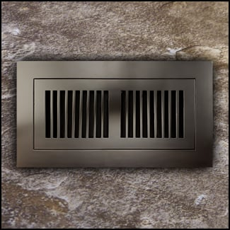 Register Vent Flush Mount Bamboo4x10 Coffee  T