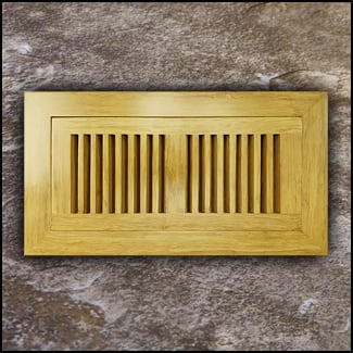 Register Vent Flush Mount Bamboo4x10 Natural  T