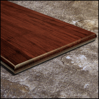 Strand Bamboo Stair Tread49inch Cinnamon  T