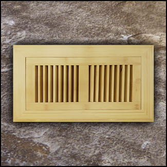 Vent Flush Mount Vertical Bamboo4x10 Natural T