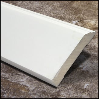 Bamboo Baseboard Wall Base Decorative White T