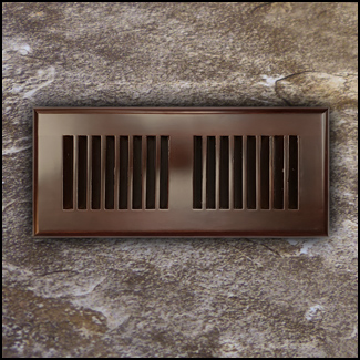 Drop In Bamboo Register Vent Cover4x10 Amber  T