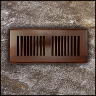 Drop In Bamboo Register Vent Cover4x10 Amber Dist  T