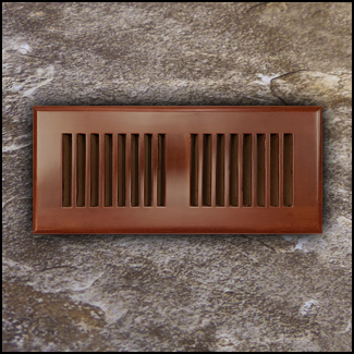 Drop In Bamboo Register Vent Cover4x10 Cinnamon T