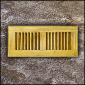 Drop In Bamboo Register Vent Cover4x10 Natural T