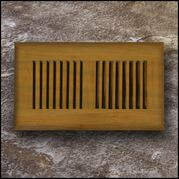 Drop In Bamboo Register Vent Cover4x10 Teak  T