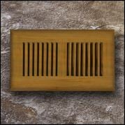 Drop In Bamboo Register Vent Cover4x12 Teak  T