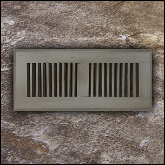 Drop In Bamboo Vent Cover4x10 Ashwood Distressed  T