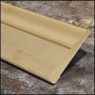 Horizontal Bamboo Baseboard Wallbase Natural Decorative T