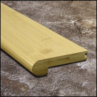 Horizontal Bamboo Nosing Bull Nose Natural T
