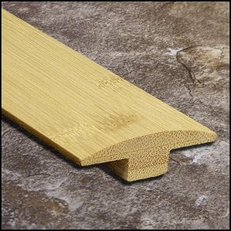 Horizontal Bamboo Tmolding Transition Natural T