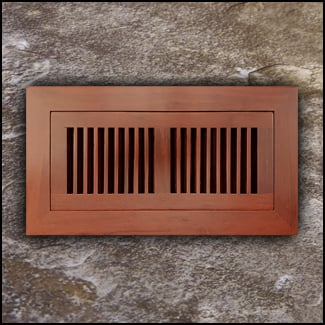 Register Vent Flush Mount Bamboo4x10 Cinnamon  T