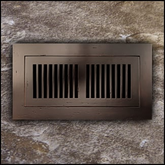 Register Vent Flush Mount Bamboo4x10 Cocoa Distressed T