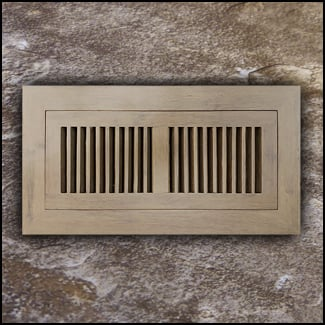 Register Vent Flush Mount Bamboo4x10 Sahara Distressed  T