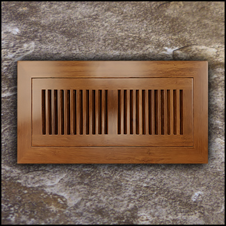 Register Vent Flush Mount Bamboo4x12 Carbonized T