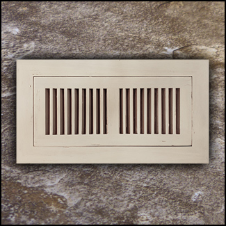 Register Vent Flush Mount Bamboo4x12 Ivory Distressed T