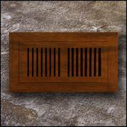 Register Vent Flush Mount Bamboo4x20 Cinnamon  T