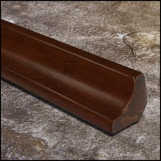 Strand Bamboo Stair Cove Molding Espresso1642 T